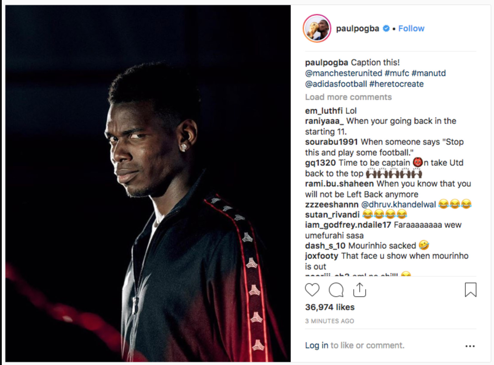 paul pogba instagram ep167fypl6py1angtc10tgkyg - Pogba Post-Delete Cryptic Tweet After Mourinho Sacking As Manchester United Manager