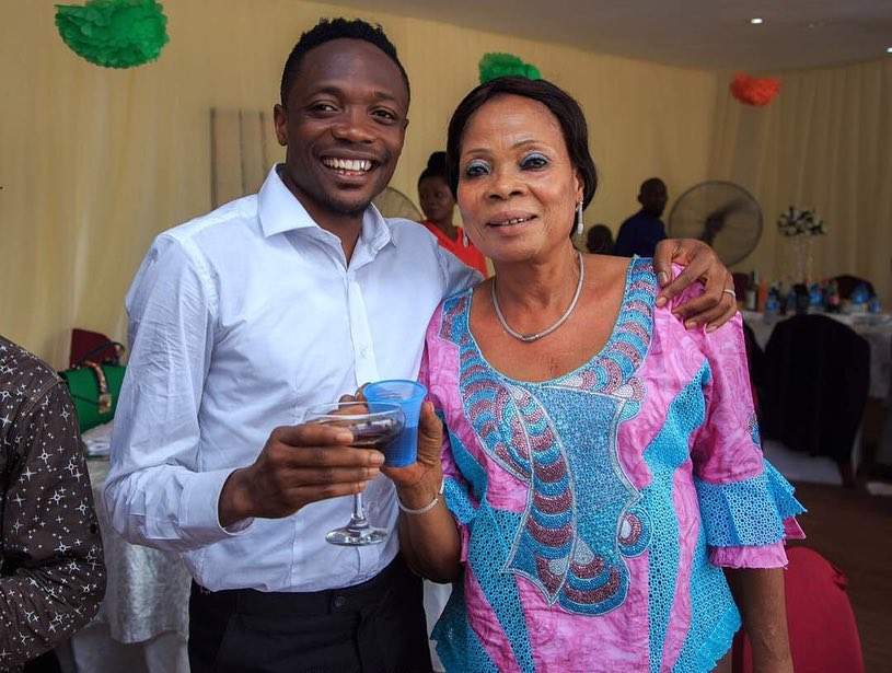 Photo of Ahmed Musa shares throwback photos with his late mother