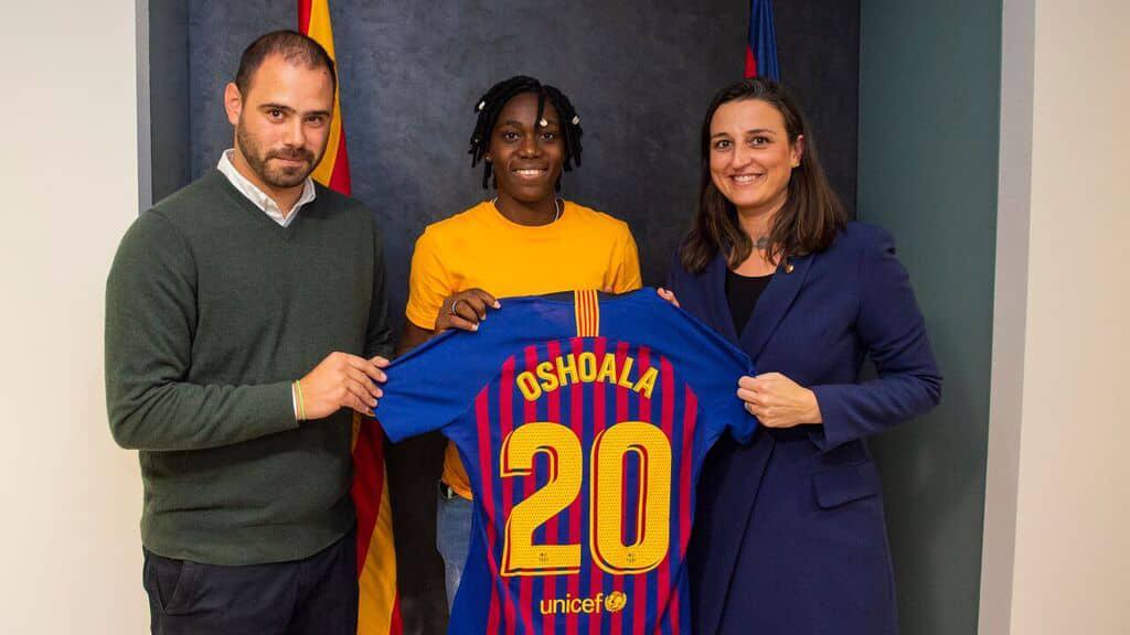 Asisat Oshoala OkayNigeria 1 - Asisat Oshoala joins Barcelona on loan [Photos]