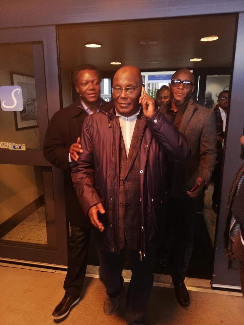 Photo of Video of Atiku As He Arrives In United States of America