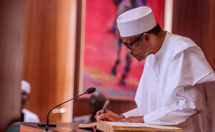 Buhari swears-in eight new permanent secretaries [FULL LIST]