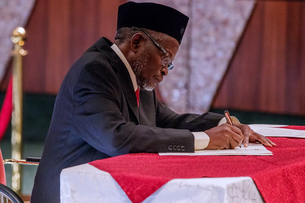 Buhari New CJN OkayNG 3 - Court fixes date to hear suit challenging acting CJN's appointment