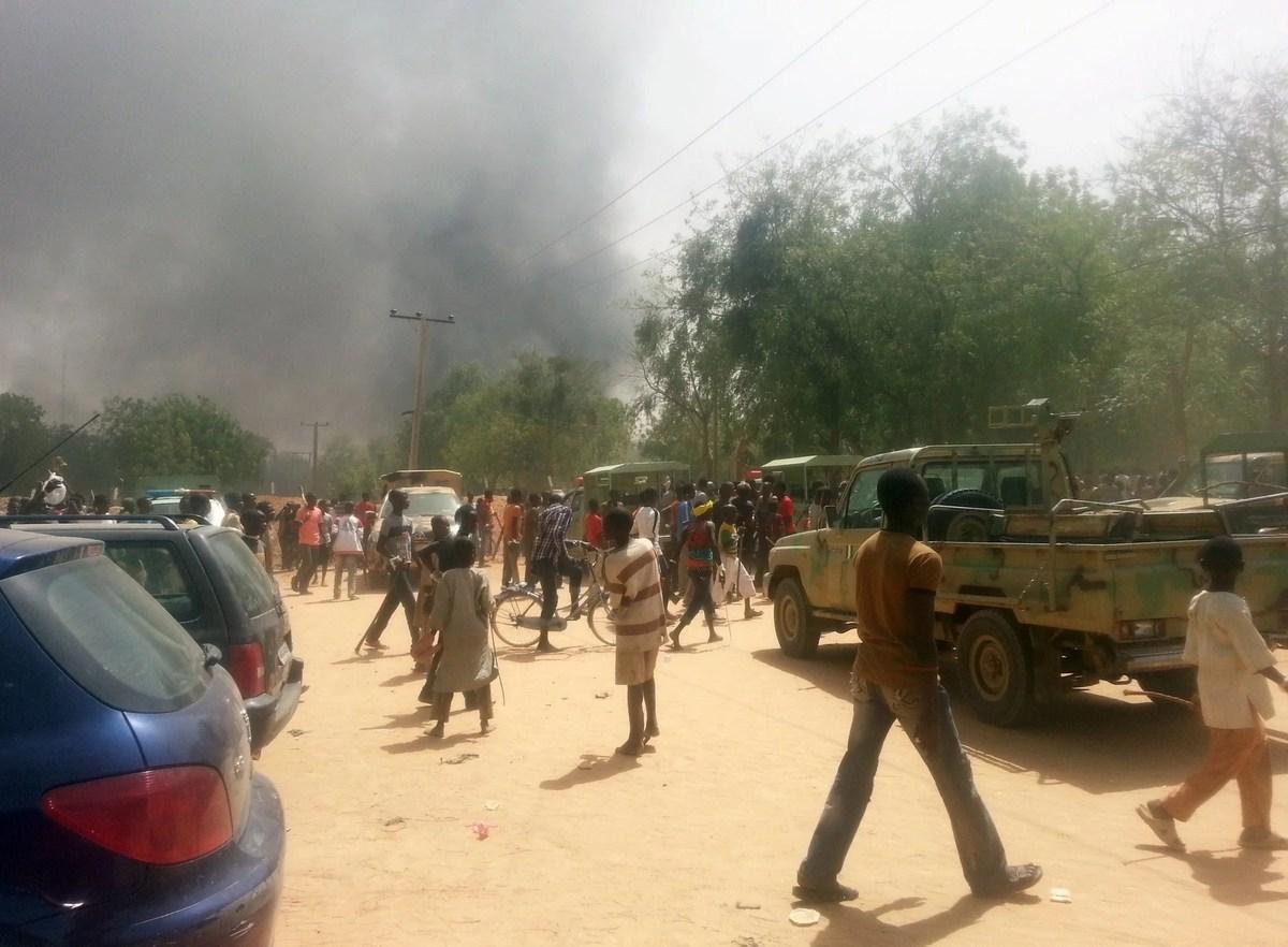 Geidam Town OkayNG - Boko Haram terrorists attack Geidam town in Yobe