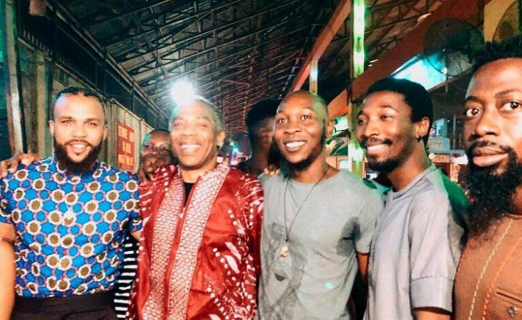 Jidenna Meets with Kuti Family As He Visits New Afrika Shrine [Photos]