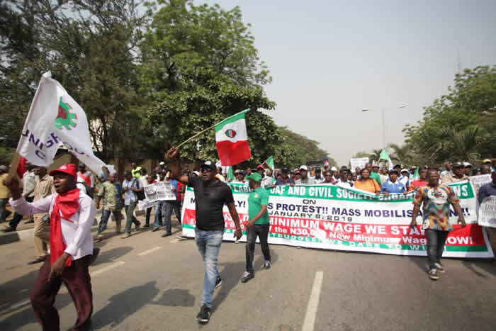 Labour protest3 OkayNG - NLC Protest Over New Minimum Wage in Lagos [Photos]