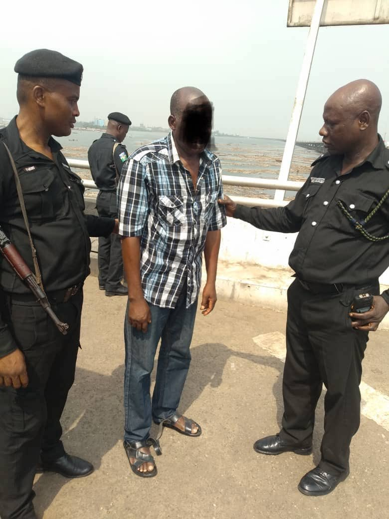 Photo of Man Rescued from Jumping into Lagos Lagoon [Photos]