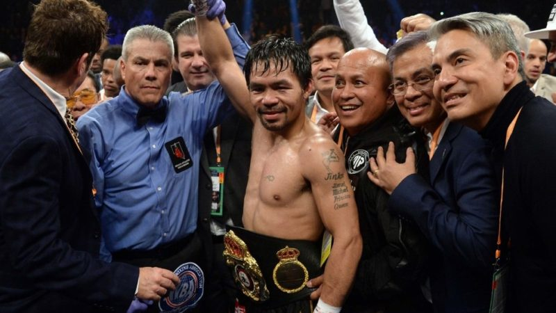 Manny Pacquiao OkayNG - Pacquiao challenges Mayweather to a Boxing rematch