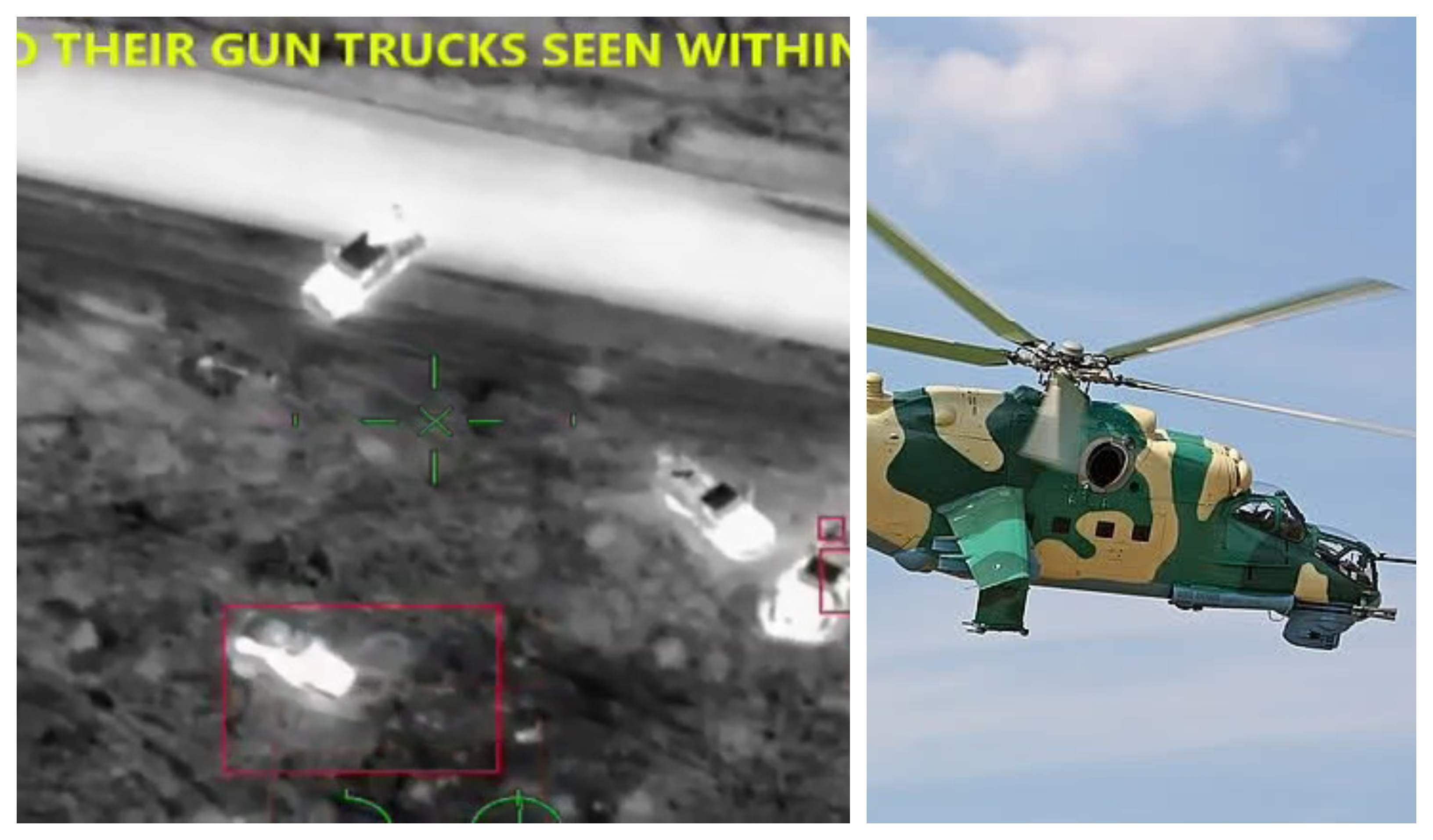 NAF Helicopter Destroys Boko Haram Terrorists Gun Trucks in Damasak [Video]