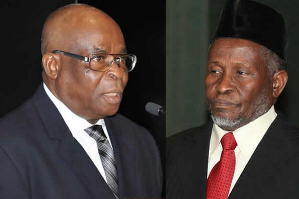 Onnoghen and Muhammad OkayNG - NJC submits probe report to Buhari on petition against Onnoghen, Tanko