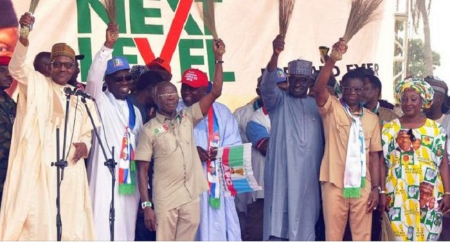 Oshiomole in Benin OkayNG - Once you join APC, all your sins are forgiven - Oshiomhole declares
