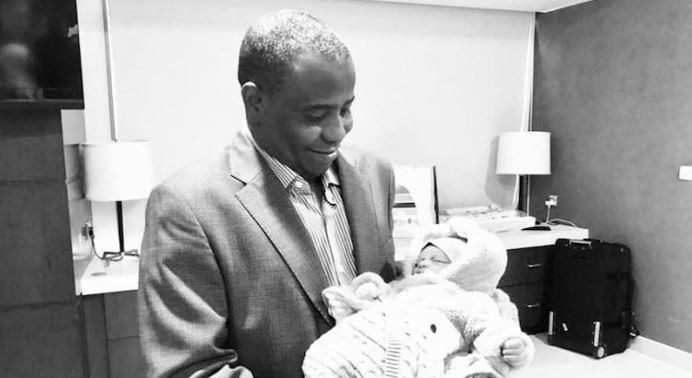 Tambuwal and his new born daughter OkayNG - Tambuwal Welcomes First Child with Second Wife in Dubai [Photo]