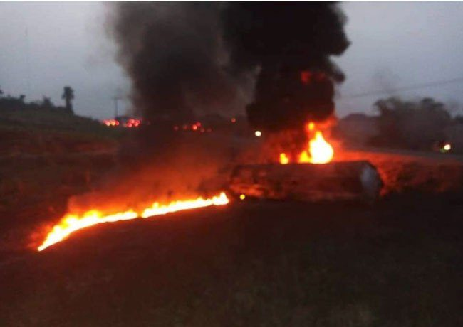 Tanker Carrying Petrol Explodes in Cross River, Many Feared Dead