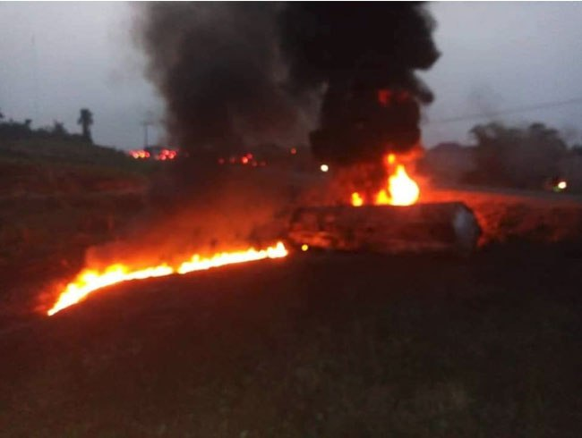 Photo of Tanker Carrying Petrol Explodes in Cross River, Many Feared Dead