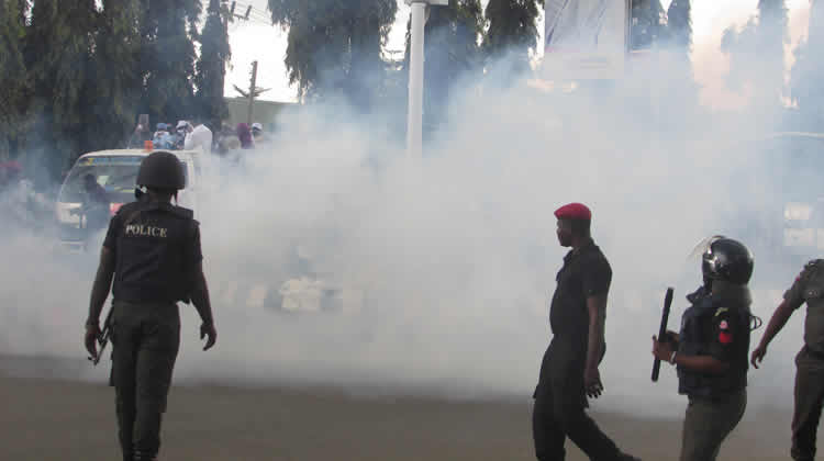 Police Disperse Supporters with Teargas at PDP Rally In Jigawa