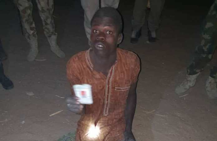 Nigerian Troops Arrest Boko Haram Terrorist While Hiding in a House