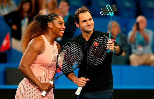 federer serena OkayNG - Federer Defeats Serena in Their First-Ever Historic Meeting