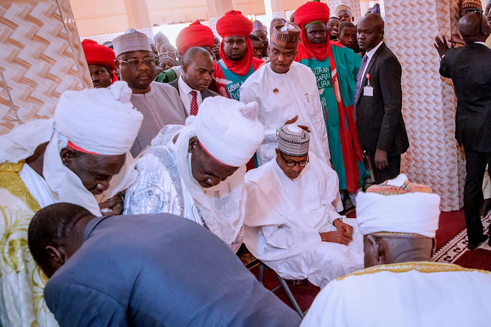 Buhari in Daura ahead of presidential election [Photos]