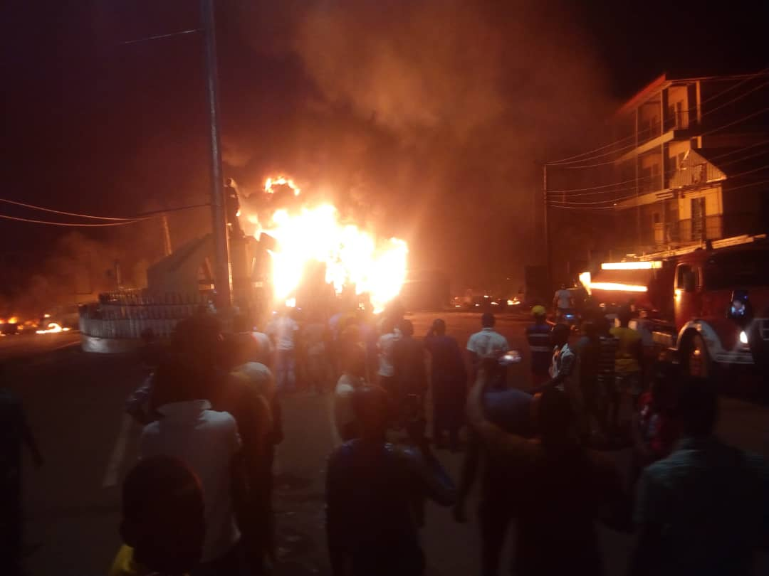 Photo of Petrol tanker explodes in Anambra, many feared dead