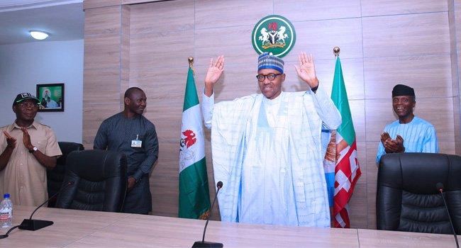 Buhari Happy Re election Okay ng - Buhari thanks God, Nigerians for his re-election [Read Full Speech]