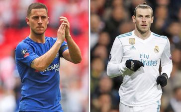 Eden Hazard and Gareth Bale