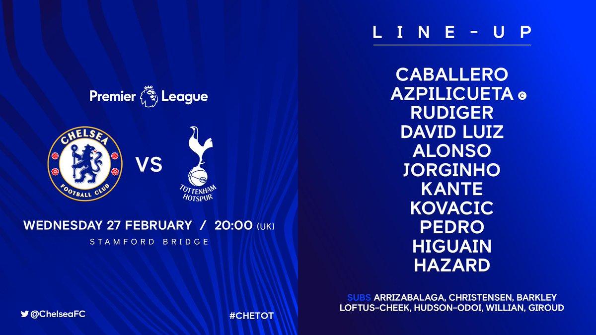 D0bxg47WoAANXq1 - Premier League: Chelsea vs Tottenham Hotspur – Starting Line-up