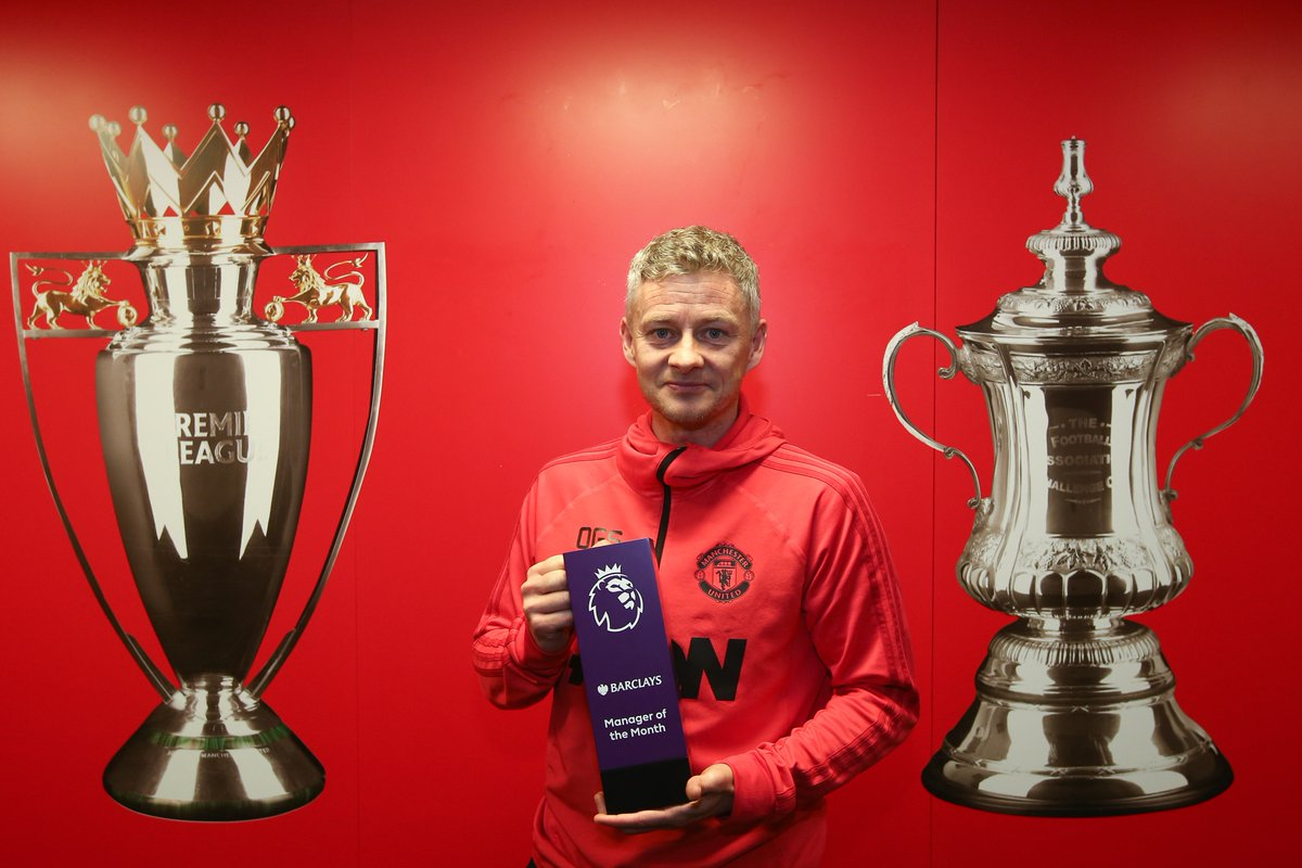 Dy4vPV8WkAAh3gw - Ole Gunnar Solskjaer wins Premier League manager of the month for January