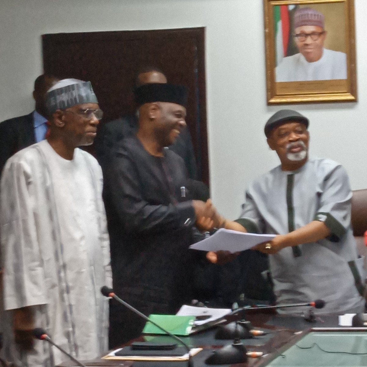 FG ASUU meeting ends Okay ng 2 - FG, ASUU meeting yields positive result as they sign deal to end strike