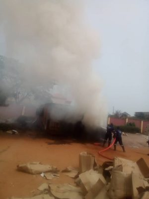 Fire destroys INEC election materials in Awka, Anambra [Photos] - OkayNG News