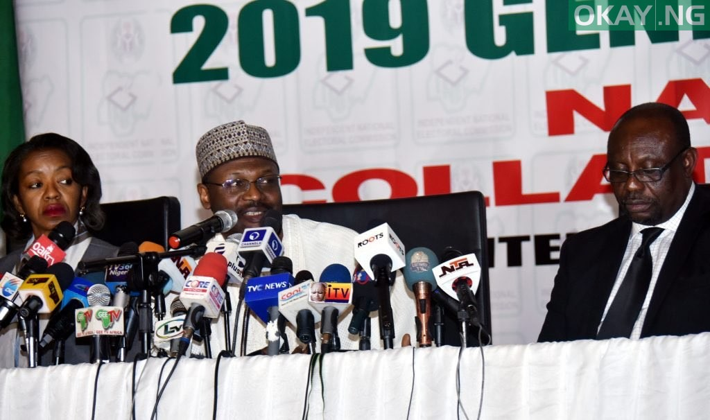 INEC Chairman briefing stakeholders Okay ng - INEC officially declares PDP winner of Zamfara election