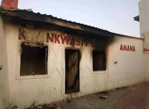 The Burn Office in Kano Okay ng - Hoodlums set Kano PDP Governorship candidate campaign office ablaze
