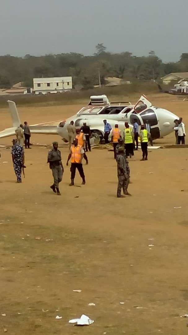 WhatsApp Image 2019 02 02 at 3.09.24 PM - AIB begins Investigation into Osinbajo's helicopter crash landing incident