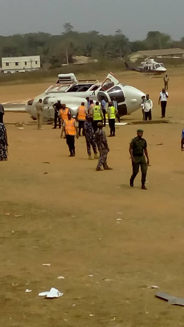 WhatsApp Image 2019 02 02 at 3.09.25 PM - JUST IN! Helicopter carrying Osinbajo crash lands in Kabba [Photos]