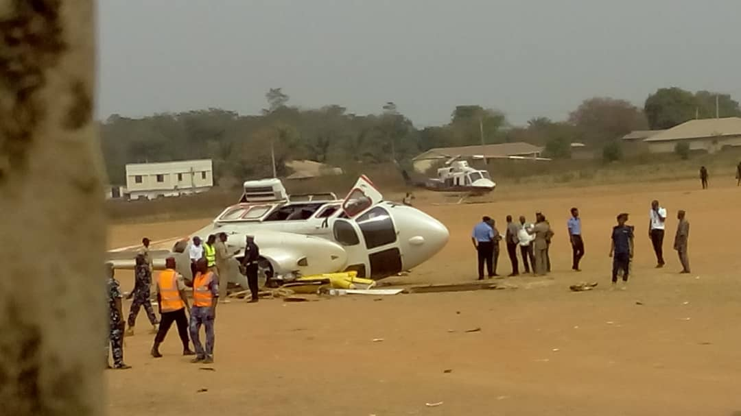 WhatsApp Image 2019 02 02 at 3.09.29 PM - JUST IN! Helicopter carrying Osinbajo crash lands in Kabba [Photos]