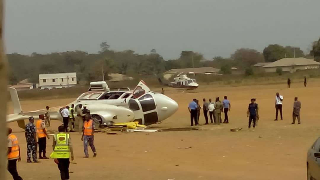 WhatsApp Image 2019 02 02 at 3.09.32 PM - JUST IN! Helicopter carrying Osinbajo crash lands in Kabba [Photos]