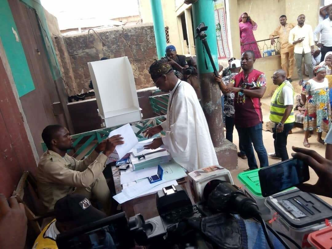 WhatsApp Image 2019 02 23 at 2.06.52 PM - Buhari defeats Atiku at Lai Mohammed's polling unit in Kwara