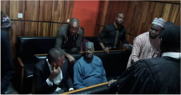 babachir lawal in court Okay ng - Court orders EFCC to remand Babachir Lawal in their custody