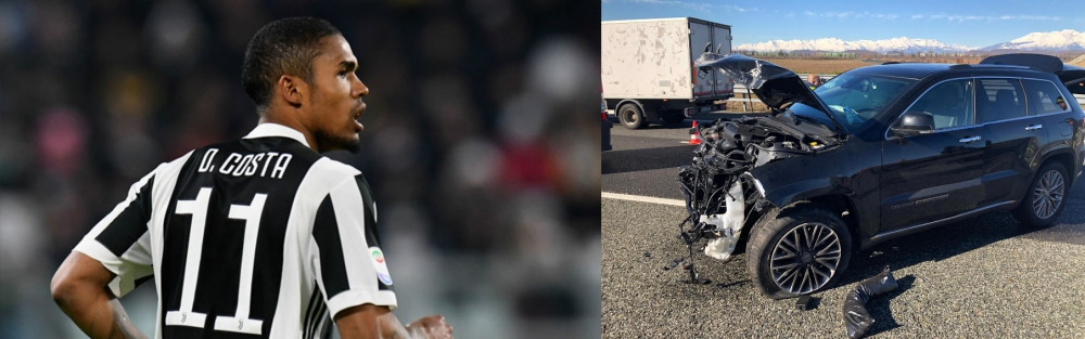 Photo of Juventus: Douglas Costa survives terrible car accident [See Photo]