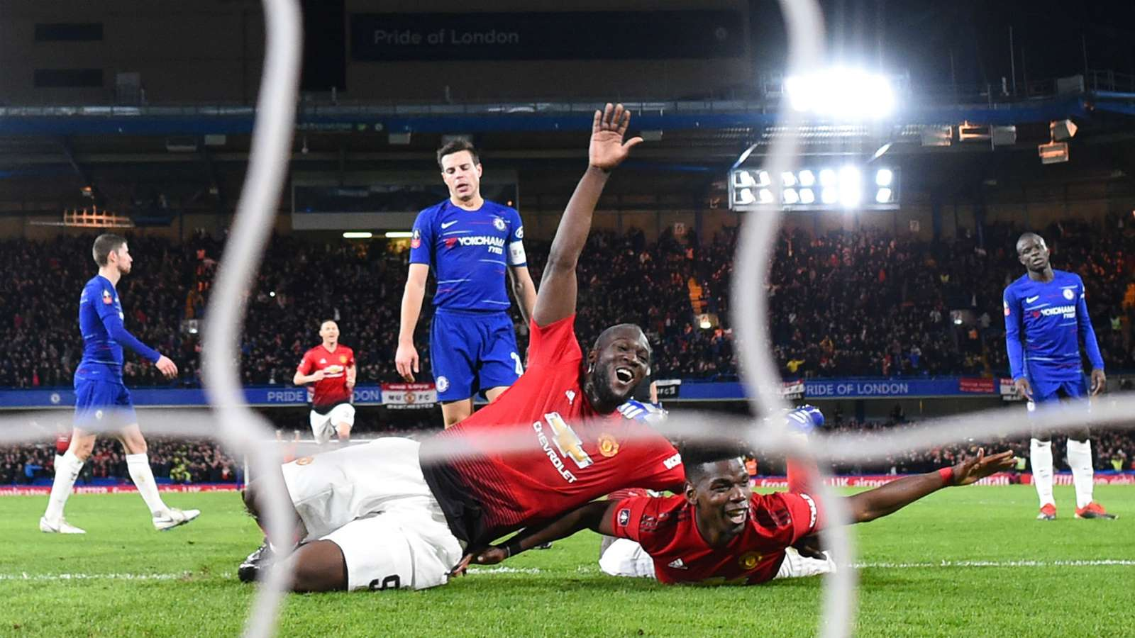 pogba cropped p5pyges1qgft121l0s7gnj2uy - Chelsea vs Manchester United 0-2: FA Cup Match Report & Highlights [Watch Video]