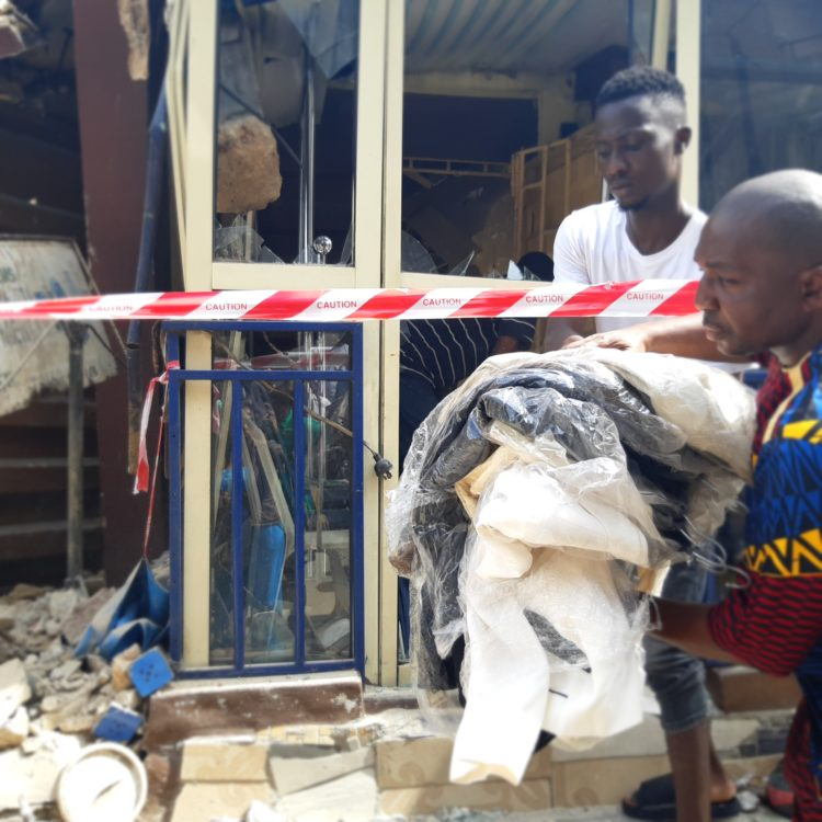 20190325 152550 750x750 - Photos from scene of Another storey building that collapsed in Lagos Island