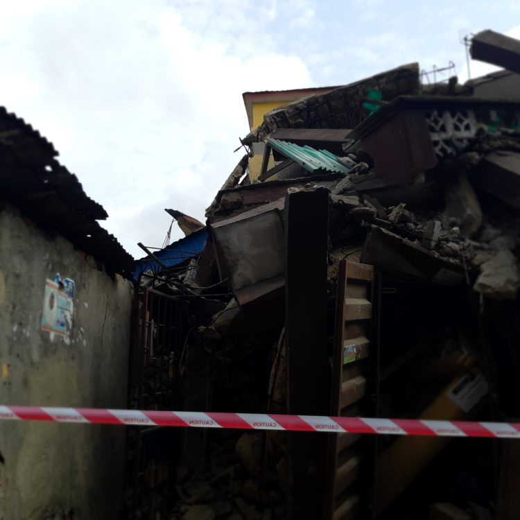 20190325 153130 750x750 - Photos from scene of Another storey building that collapsed in Lagos Island