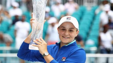 Ashleigh Barty Okay ng 390x220 - Ashleigh Barty defeats Karolina Pliskova to clinch WTA Miami Open title