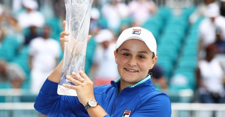 Photo of Ashleigh Barty defeats Karolina Pliskova to clinch WTA Miami Open title
