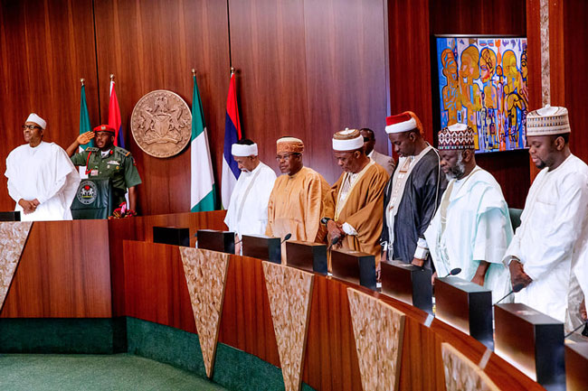 Buhari Religious Leaders Meeting Okay ng 1 - Buhari hosts Religious leaders at State House [Photos]
