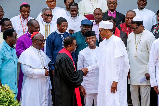 Buhari Religious Leaders Meeting Okay ng 2 - Buhari hosts Religious leaders at State House [Photos]