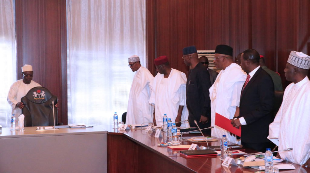 Buhari Security Meeting Okay ng 1 - Buhari holds security meeting in Aso Rock Villa [Photos]