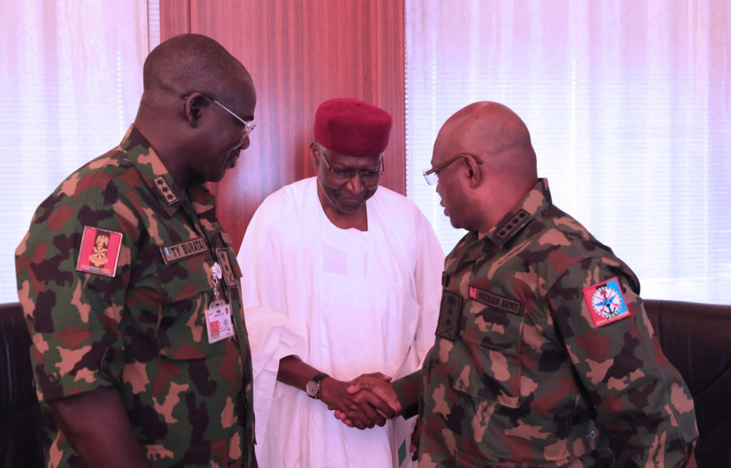 Buhari Security Meeting Okay ng 4 - Buhari holds security meeting in Aso Rock Villa [Photos]