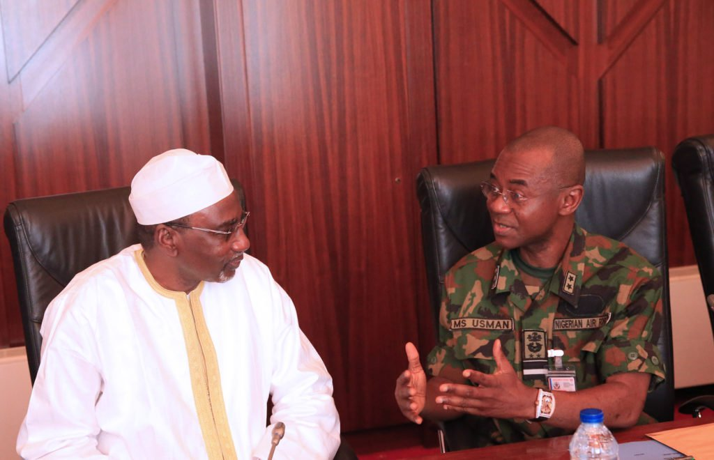 Buhari Security Meeting Okay ng 5 - Buhari holds security meeting in Aso Rock Villa [Photos]