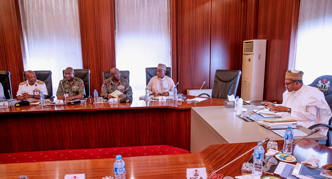 Buhari Service Chiefs Okay Nigeria 2 - Buhari hold meeting with service chiefs over security challenges [Photos]