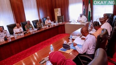 Buhari Service Chiefs Okay Nigeria 390x220 - Buhari holds security meeting with Service chiefs over bandits attacks