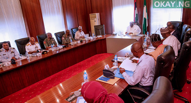 Buhari Service Chiefs Okay Nigeria - Buhari holds security meeting with Service chiefs over bandits attacks